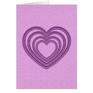 Herz-Kräuselung - Rosa Grußkarte