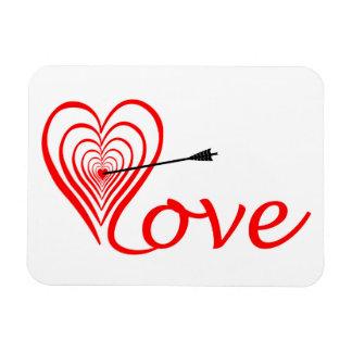Herz Liebe Dartscheibe mit Pfeil Magnet
