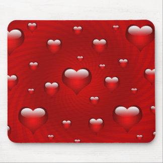 Herz-Liebe-Thema Mauspad