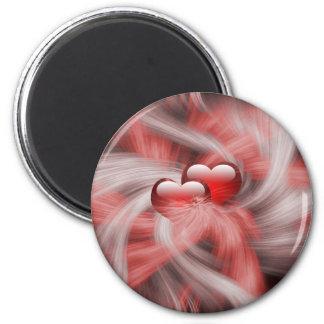 Herz-Liebe-Thema Runder Magnet 5,7 Cm
