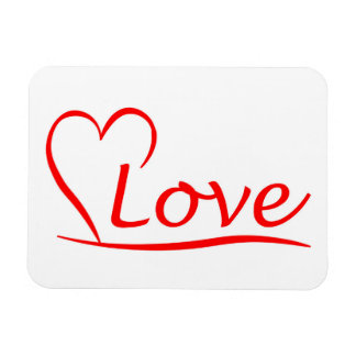 Herz mit Liebe Magnet