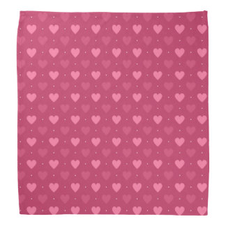 Herz-Muster-Rosa u. Rot (Liebe u. Valentine) Kopftücher