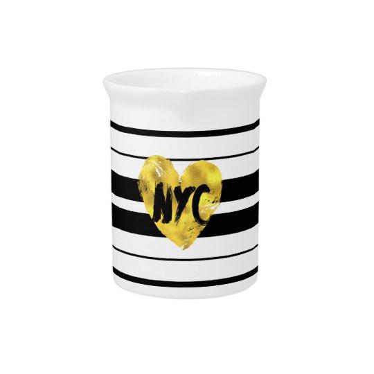Herz New York, Striped Getränke Pitcher