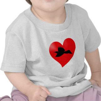 Herz Rabe heart raven Tshirts