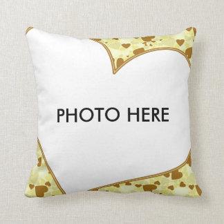Herz-Rahmen-Foto-Kissen Zierkissen