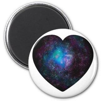 Herz-Raum - pn Runder Magnet 5,7 Cm