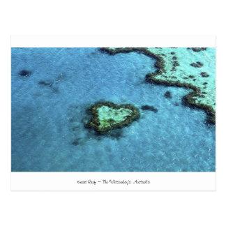 Herz-Riff - Australien Postkarte