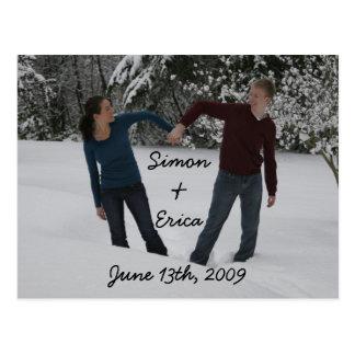 Herz, Simon &Erica, am 13. Juni 2009 Postkarte