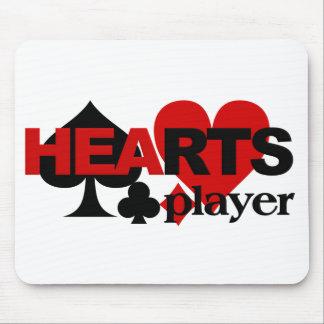 Herz-Spieler mousepad
