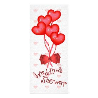 Herz steigt Polterabend im Ballon auf 10,2 X 23,5 Cm Einladungskarte