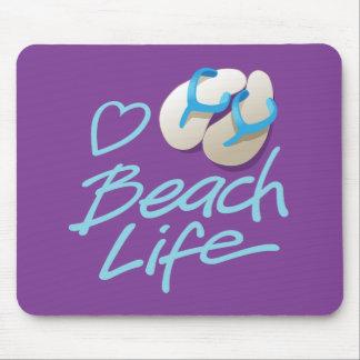 Herz-Strand-LebenMausunterlage mit drehen Mauspad