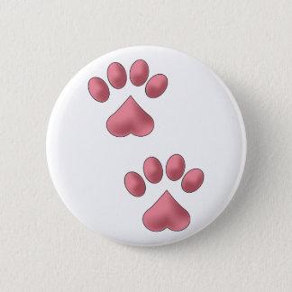 Herz-Tatzen Runder Button 5,1 Cm