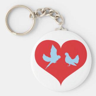 Herz Tauben heart doves Schlüsselanhänger