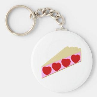 Herz-Torte Standard Runder Schlüsselanhänger