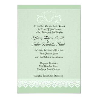 Herz-und Spitze-Hochzeits-Einladungen