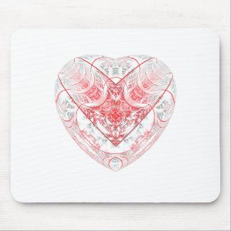 Herz-Weiß Mousepads