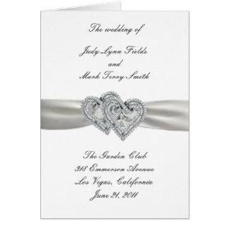 Herz-weiße Hochzeits-Programm-Karte Grußkarte