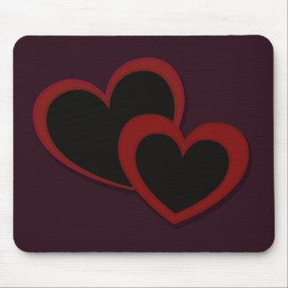 Herzen auf Pflaume Mauspads