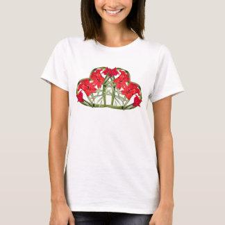 Herzen der Gladiolas Blumen-botanischen mit T-Shirt