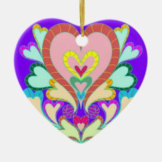 Herzen hängend keramik Herz-Ornament
