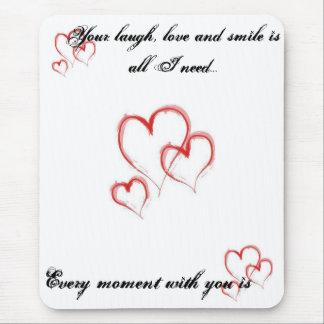 Herzen, Herzen, Herzen, Ihr Lachen, Liebe und Mousepads