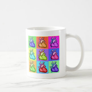 Herzen (Pop-Art) Tasse