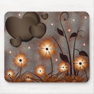 Herzen u. Blumen Mauspad
