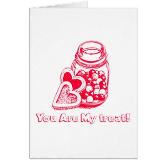 Herzen und Süßigkeits-Valentinstag-Karte Karte