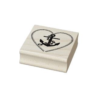Herzkettenanker-Silhouette-Kunst-Briefmarke Gummistempel
