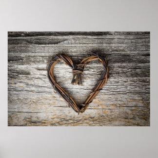 Herzplakat/Leinwanddruck Poster