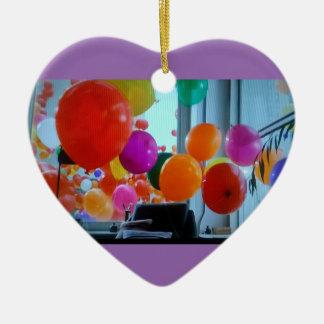 Herzverzierung der Partyballone Keramik Herz-Ornament