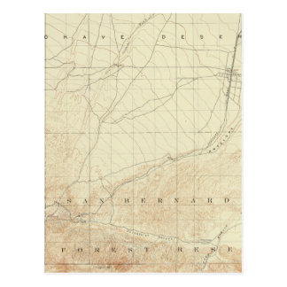Hesperia Viereck, das San- Andreasriß zeigt Postkarte