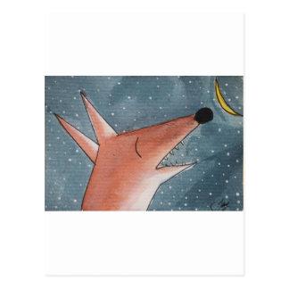 Heulen am Mond Postkarte