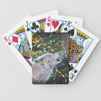 Heulenarktisches grauer Wolf-Tier-Foto Bicycle Spielkarten