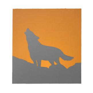 Heulenwolf-Notizblock Memo Notizblock
