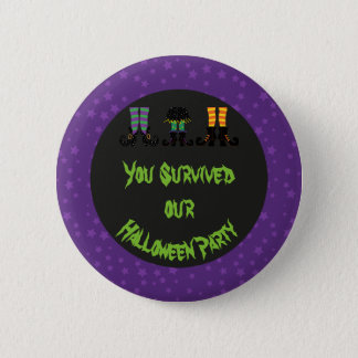 Hexe-Fuß-Halloween-Party Runder Button 5,1 Cm