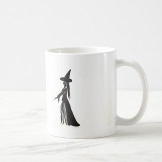 Hexe mit einem magischen Stab Kaffeetasse