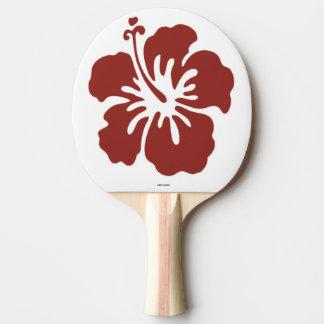Hibiskus-BlumePing Pong Paddel Tischtennis Schläger