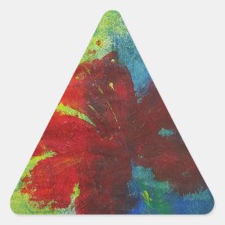Hibiskus Dreieckiger Aufkleber