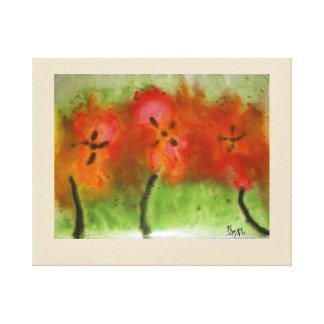 Hibiskus-Malerei Leinwanddruck