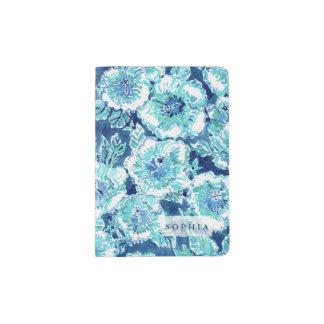 HIBISKUS-PRÄMIE blaues tropisches hawaiisches Passhülle