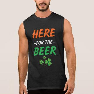 Hier für das lustige T-Stück St. Patricks Männer Ärmelloses Shirt