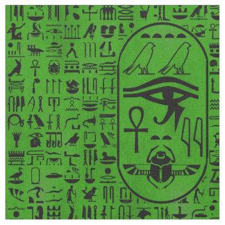 Hieroglyphen-Grün Stoff