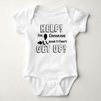 Hilfe krieche ich und ich kann Baby-Shirt nicht Baby Strampler