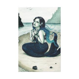 Hilflos gotischer Meerjungfrau-SeeLeinwand-Druck Gespannter Galeriedruck