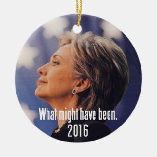 Hillary Clinton-Verzierung Keramik Ornament