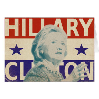Hillary Clintonwahl-Gruß-Karte 2016 Karte