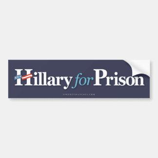 Hillary für Gefängnis Autoaufkleber