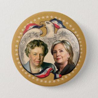 Hillary u. ihre Heldin Runder Button 7,6 Cm