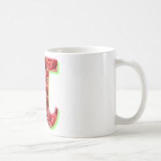 Himbeer- und PU-Symbol Tasse
